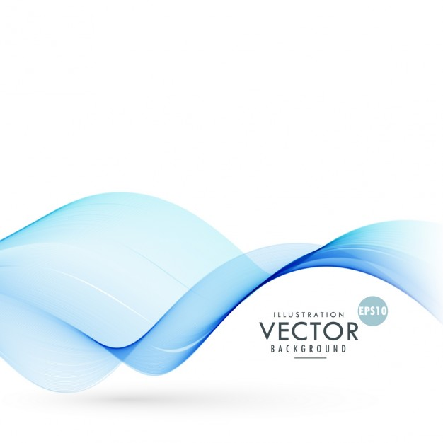 Nice background with blue waves Free Vector