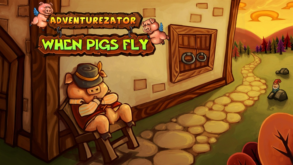 Adventurezator When Pigs Fly Download Poster