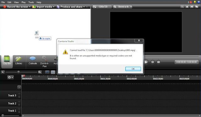 حل مشكل عدم قراءة بعض من صيغ الفيديو في Camtasia Studio