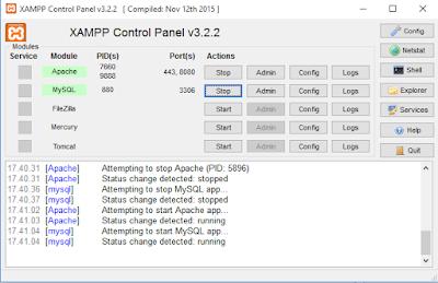Langkah Cara Merubah Port Delault Apache Server pada XAMPP