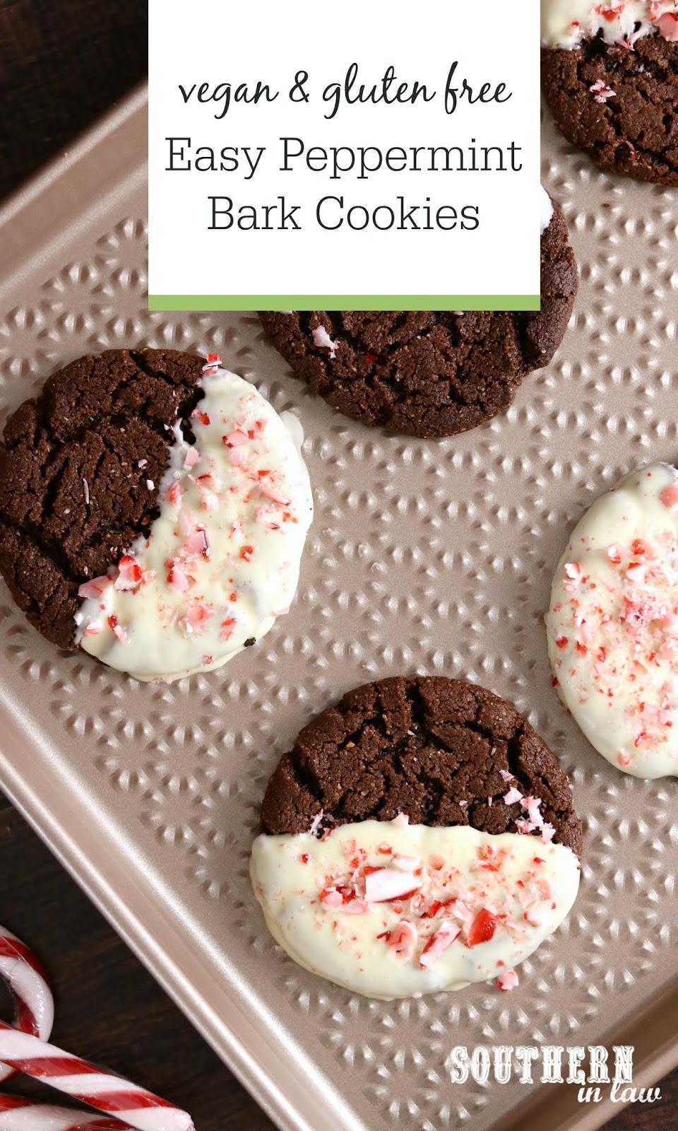 Southern In Law Recipe Easy Vegan Peppermint Bark Cookies Gluten