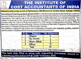 ICAI Recruitment 2020 Apply Online 27 Vacancies