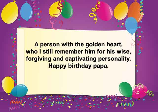 Best Happy Birthday For Dad From Son Or Daughter