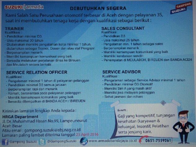 Dealer Suzuki - PT.Armada Banda Jaya