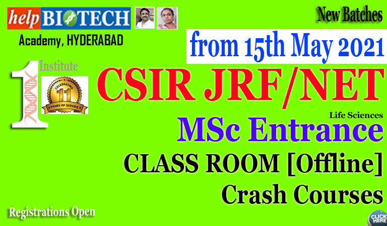 CSIR Crash Course from 15th May