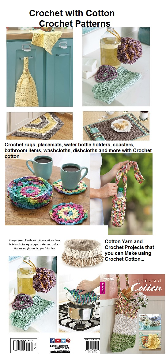Crochet Cotton Yarn Patterns for the Home