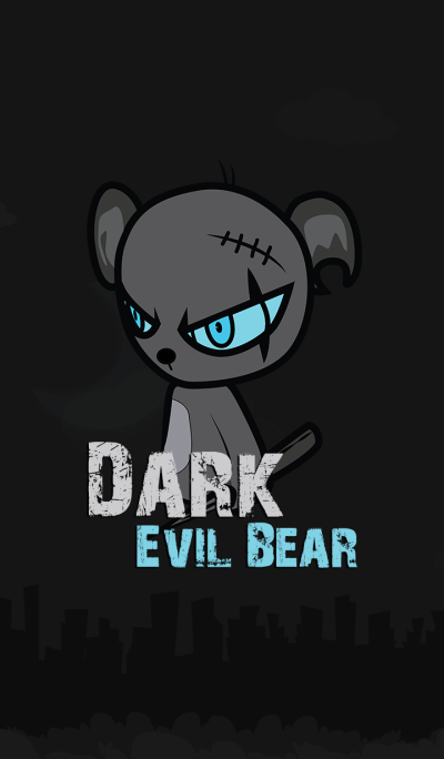 Dark Evil Bear BLUE