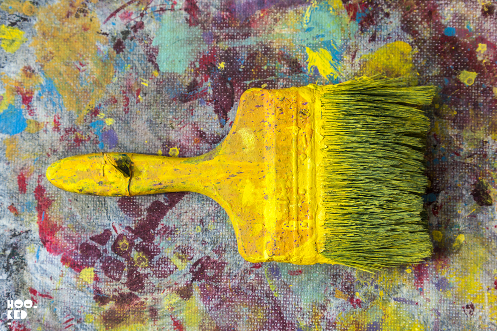 Italian Street Artist Giacomo Bufarini's paint covered paint brush