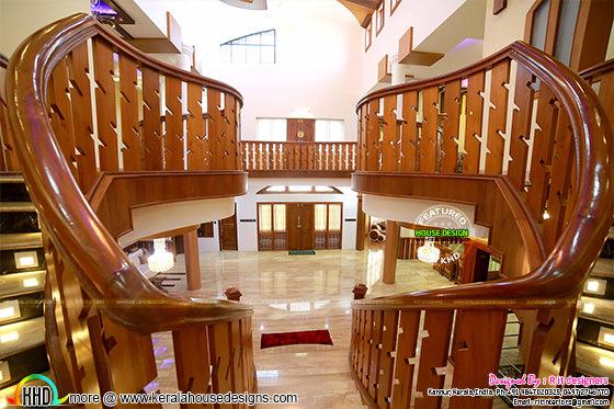 Bifurcated Wooden Stair