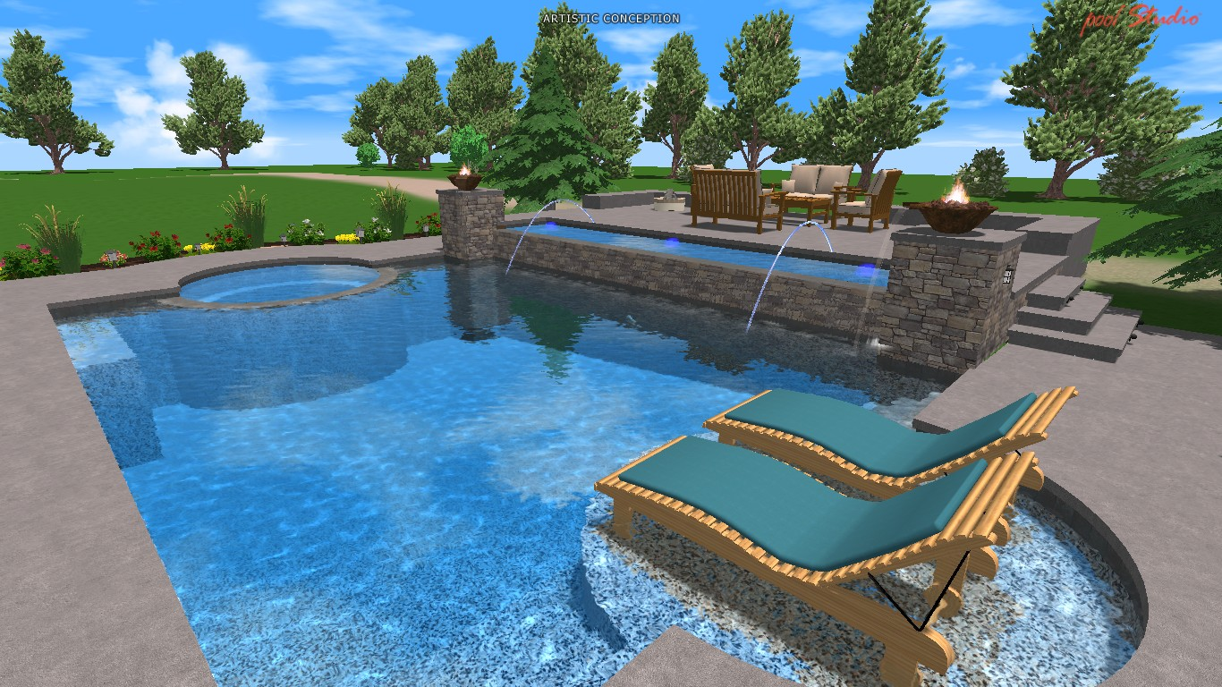 Home decorating ideas astonishing small inground pools to for Pool design hours