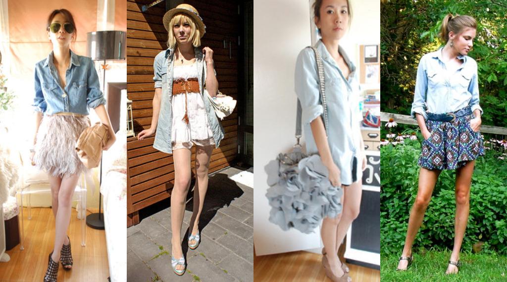 Our World  Moda - Camisa Jeans Feminina c276858bfd50d
