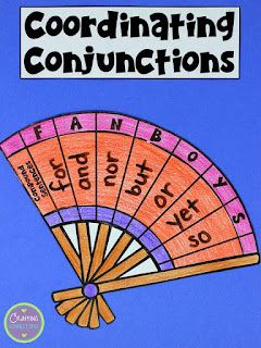 FREE Coordinating Conjunctions Craftivity- Help students remember the coordinating conjunctions by using the FANBOYS acronym.
