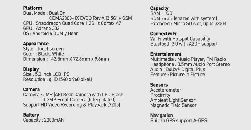 Harga Smartfren Andromax I3 Terbaru