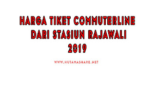 Harga Tiket Commuterline Dari Stasiun Rajawali Terbaru 2019