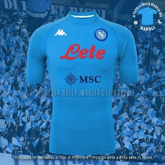 Update Ssc Napoli 20 21 Home Kit Design Leaked Red Sponsor Text On Blue Kit Footy Headlines