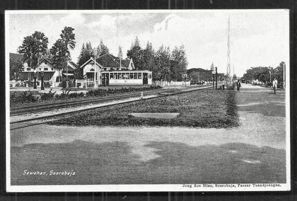 Ternyata wilayah Sawahan pada jaman dulu terdapat stasiun Trem. (Sumber : serbasepuh)