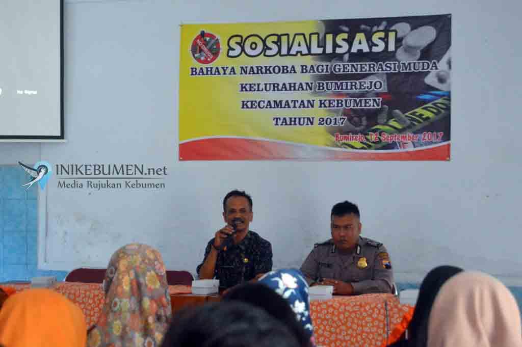 Kelurahan Bumirejo Gelar Sosialisasi Bahaya Narkoba