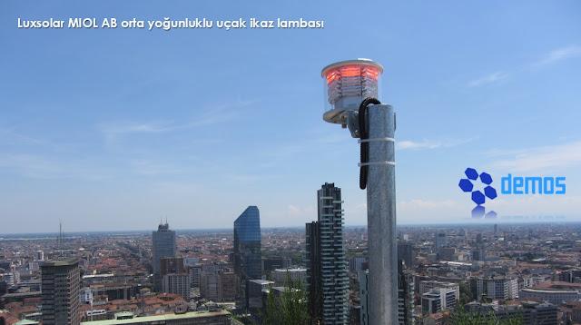 Yüksek yapılar için ICAO Annex 14 mevzuatına uygun uçak ikaz lambaları