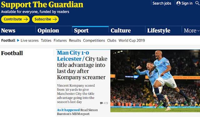 """Man City thắng nhờ """"siêu phẩm thập kỷ"""": Báo Anh đặt cửa vô địch lẫn ăn 3 4"""