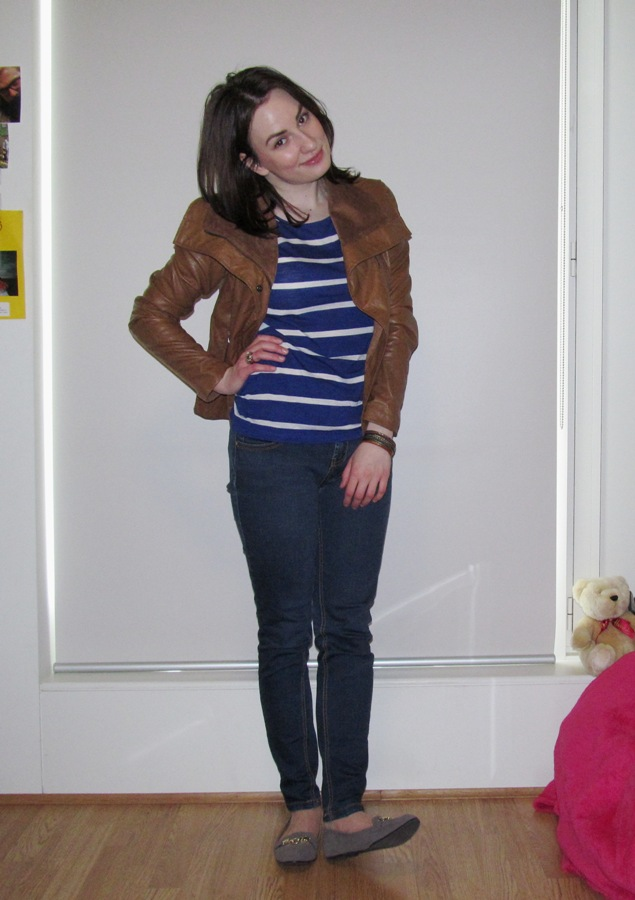 Leather Jacket + Loafers
