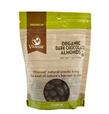 Organic Dark Chocolate Covered ALmonds Healthfood