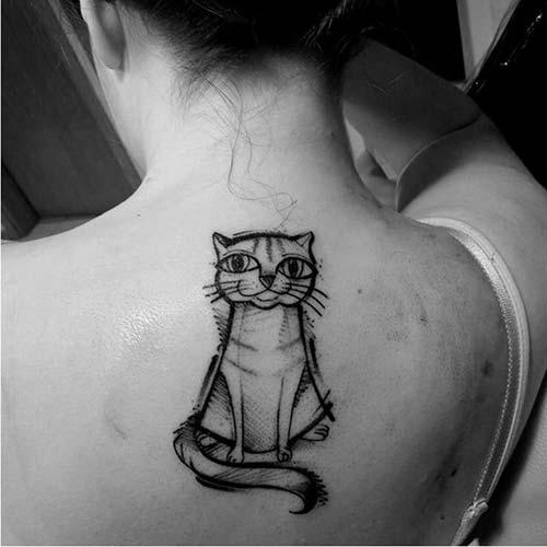 kedi dövmeleri cat tattoos 28