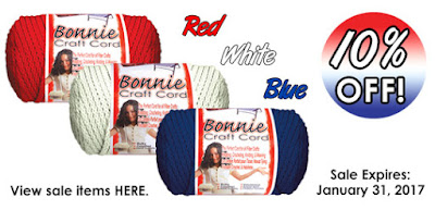 Save 10% off Red, White and Blue at MacrameSuperStore.com