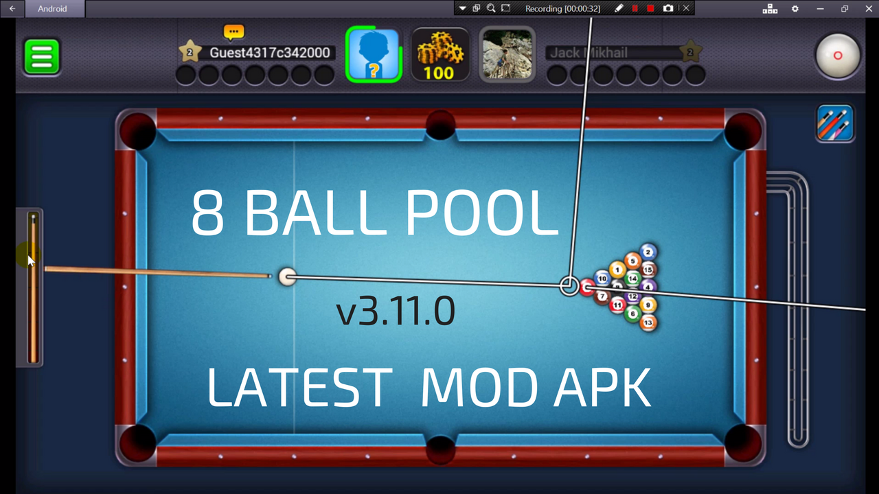 8 Ball Pool Latest 3.11.0 Anti-ban Extended GuideLine Mod ... -