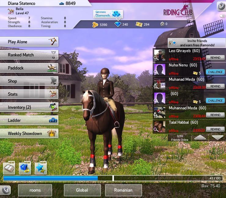 Kochamkonie: Gra Riding Club Championships