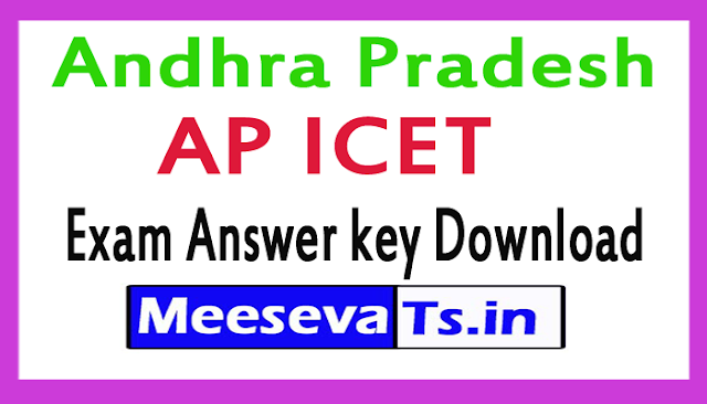 AP ICET Exam Answer key Download 2018