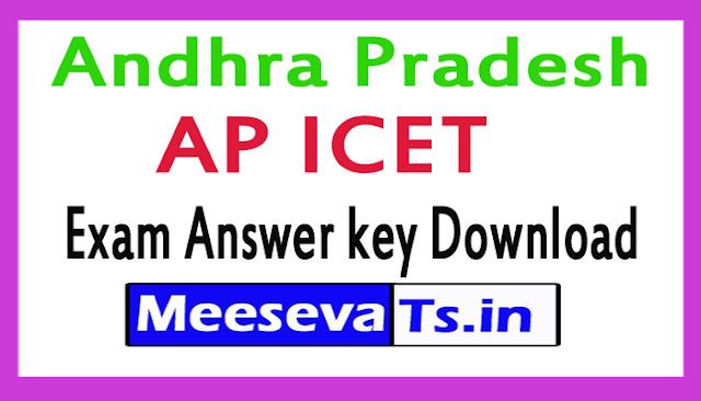 AP ICET Exam Answer key Download 2018