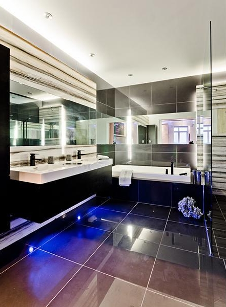 Picture of modern black bathroom