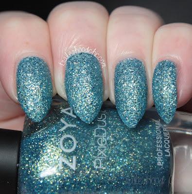 zoya bay seashells pixie dust review swatches