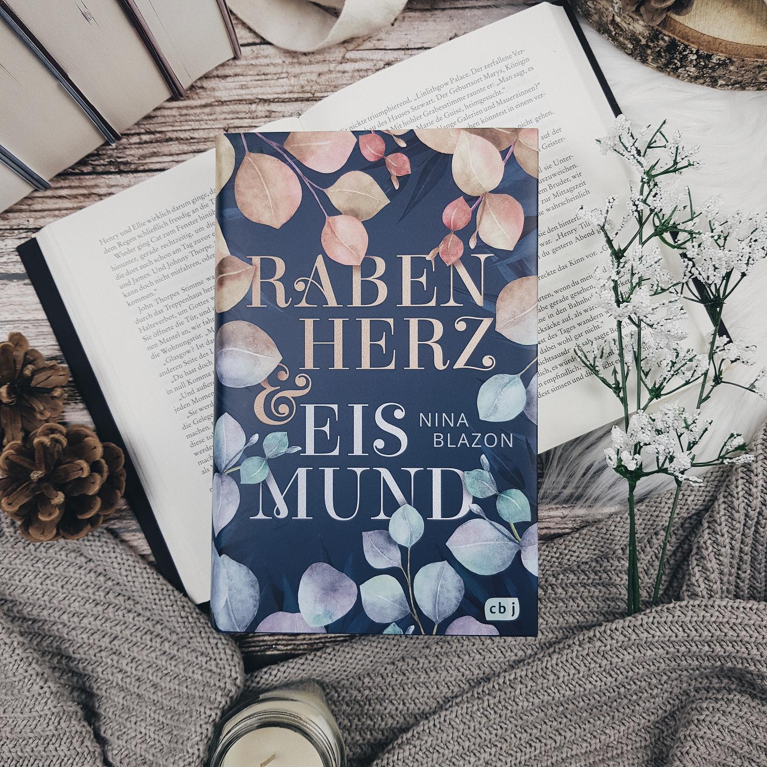 Bücherblog. Rezension. Buchcover. Rabenherz und Eismund von Nina Blazon. Jugendbuch. Fantasy. cbj.
