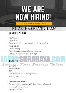 Loker Surabaya di PT. Artha Kreasi Utama Terbaru Februari 2019