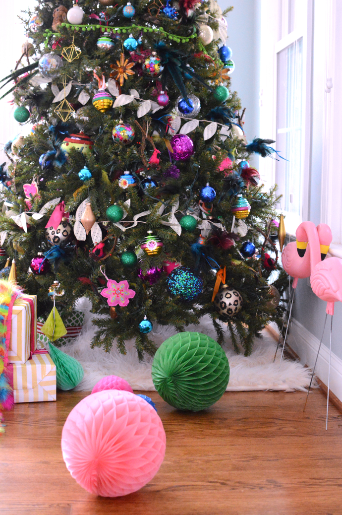 Colorful and Fun Details on Christmas Tree