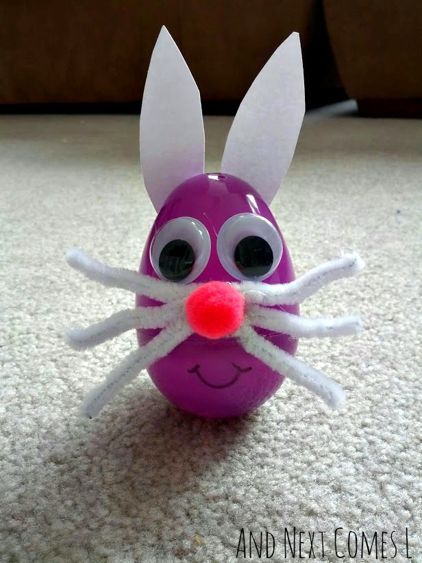 Wobbly Easter Egg Bunny Craft And Next Comes L