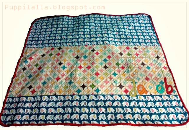 Faux Chenille Baby Quilt Blanket Cotton Flannel Puppilalla finished