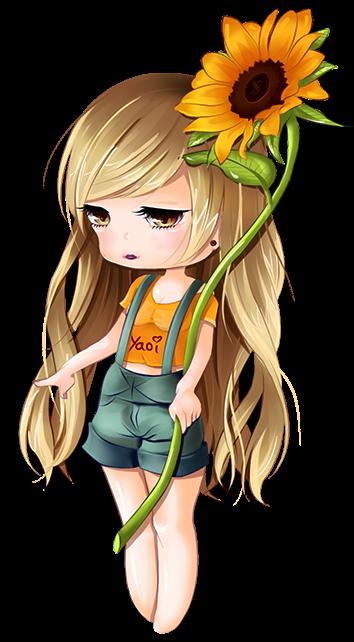 render Sunflower Chibi