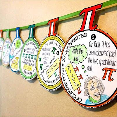 Pi Day pennant (metric version)