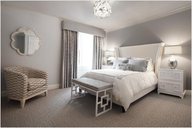 صورة غرفة نوم رمادي فاتح