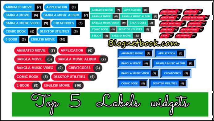 Top 5 stylish label widget for blogger