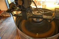 Motion photo of spinning honey extractor