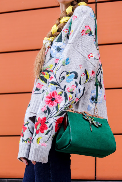 green suede bag Zara