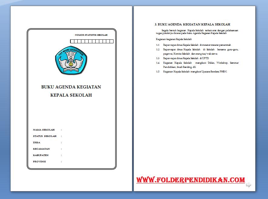 Download Agenda Kepala Sekolah