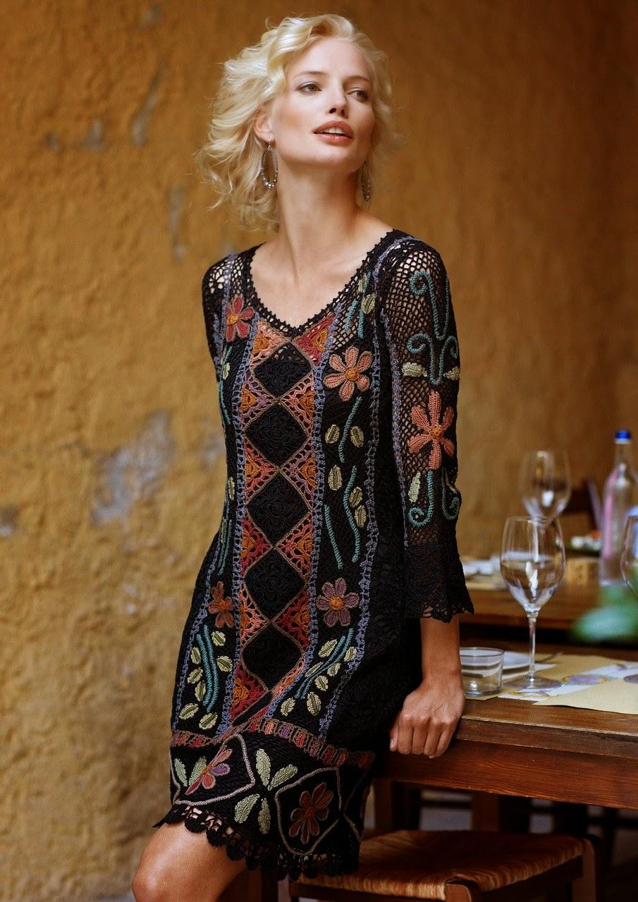 szydelkowa sukienka boho