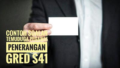 Contoh Soalan Temuduga Pegawai Penerangan Gred S41