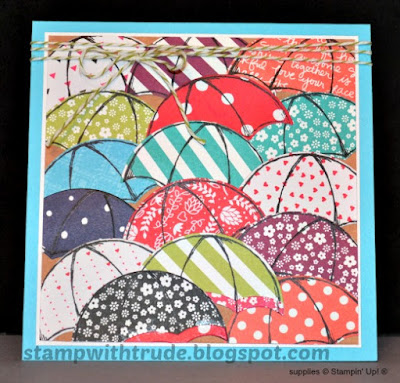 Tuesday Tutorial, Weather Together, Umbrella Weather, Stampin' Up!, Stamp with Trude, Encouragement, greeting card