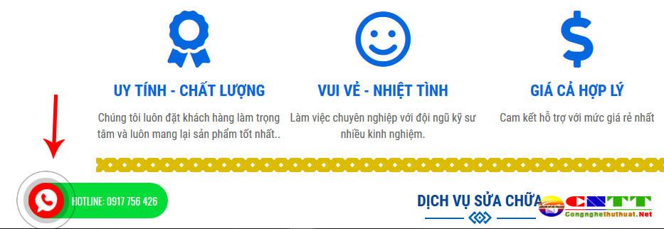 Chia sẻ code tạo nút Gọi Ngay hiển thị số điện thoại rung lắc style 2 cho website/blogspot