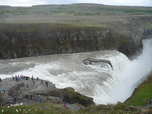 cascata Gullfoss in islanda